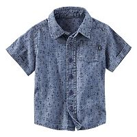 Toddler Boy OshKosh B'gosh® Anchor Pattern Chambray Button-Down Shirt