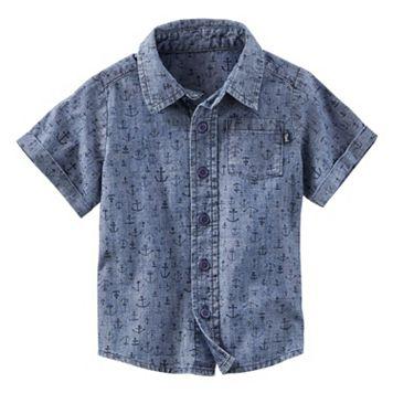 Toddler Boy OshKosh B'gosh® Anchor Pattern Chambray Button-Down Shirt