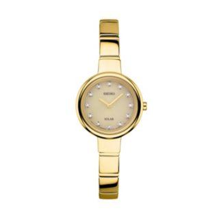 Seiko Women's Diamond Stainless Steel Solar Watch - SUP365