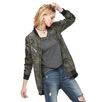 Women's Rock & Republic® Camo Bomber Jacket