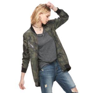 Women's Rock & Republic® Camo Bomber Jacket