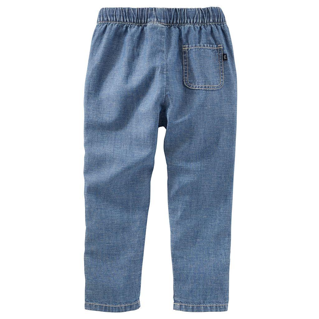 Toddler Boy OshKosh B'gosh® Roll-Tab Linen Pants