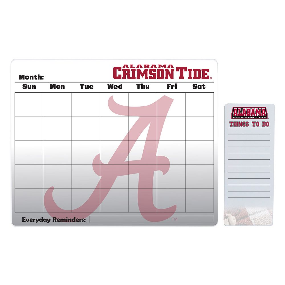 Alabama Crimson Tide Dry Erase Calendar & To-Do List Pad Set