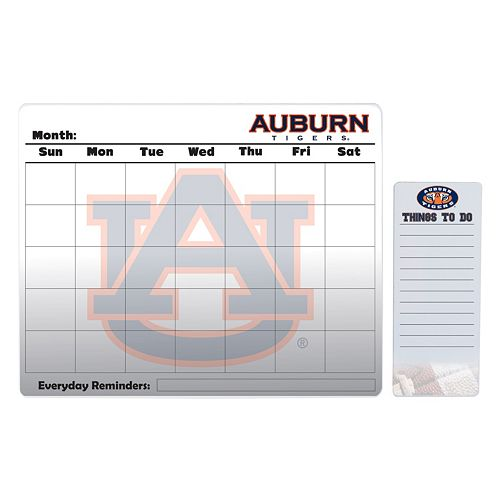 Auburn Tigers Dry Erase Calendar & To-Do List Pad Set