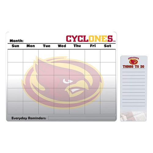 Iowa State Cyclones Dry Erase Calendar & To-Do List Pad Set