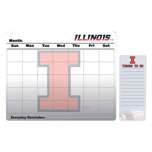Illinois Fighting Illini Dry Erase Calendar & To-Do List Pad Set