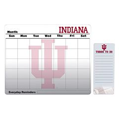 Indiana Hoosiers Dry Erase Calendar & To-Do List Pad Set