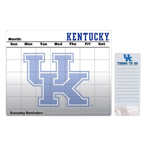 Kentucky Wildcats Dry Erase Calendar & To-Do List Pad Set
