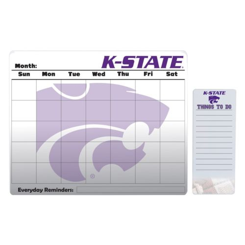 Kansas State Wildcats Dry Erase Calendar & To-Do List Pad Set