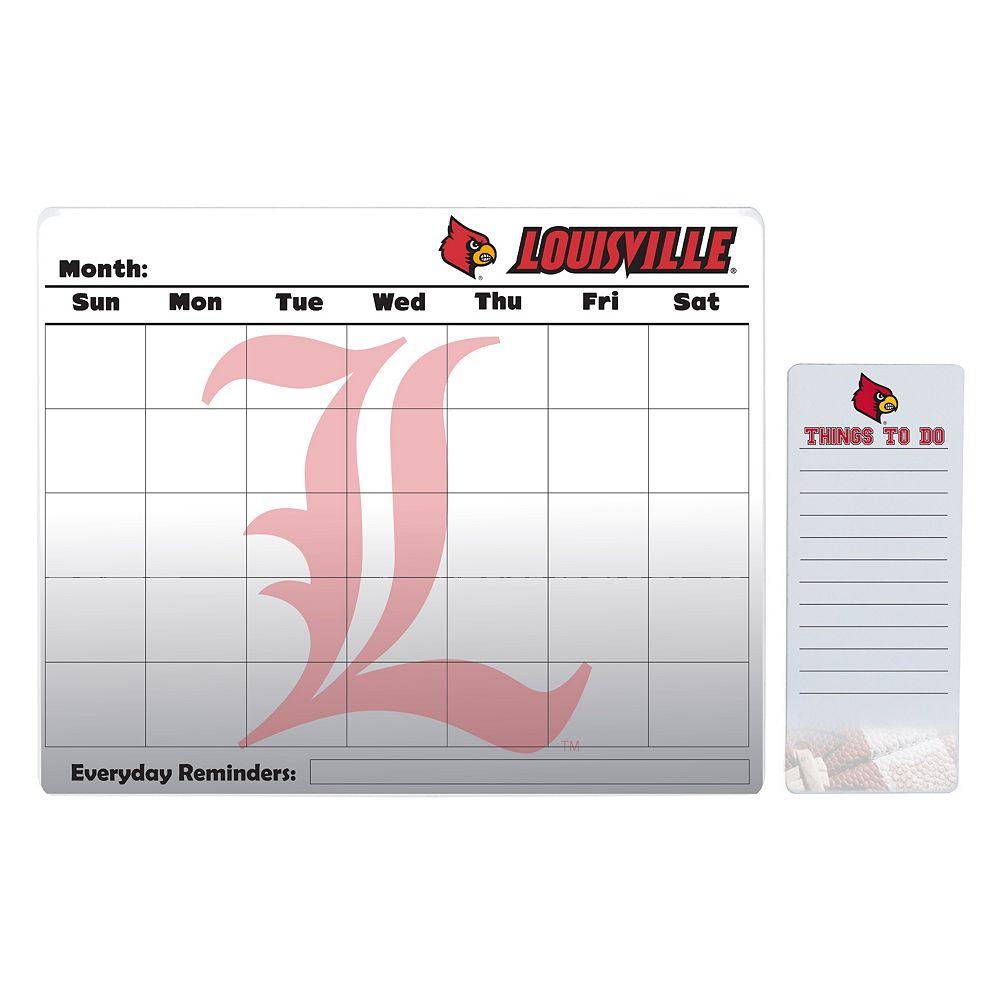 Louisville Cardinals Dry Erase Calendar & To-Do List Pad Set