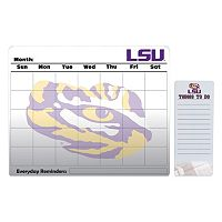 LSU Tigers Dry Erase Calendar & To-Do List Pad Set