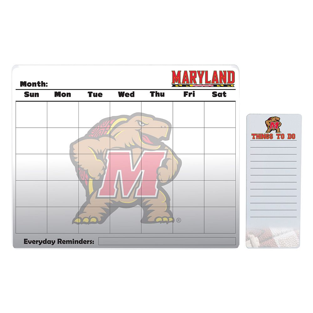 Maryland Terrapins Dry Erase Calendar & To-Do List Pad Set
