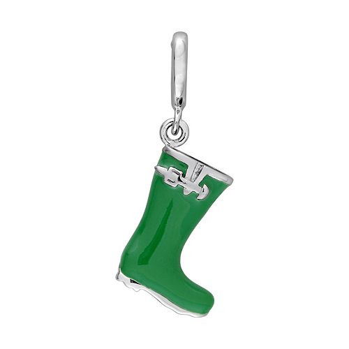 Laura Ashley Lifestyles Garden Collection Sterling Silver Rain Boot Charm
