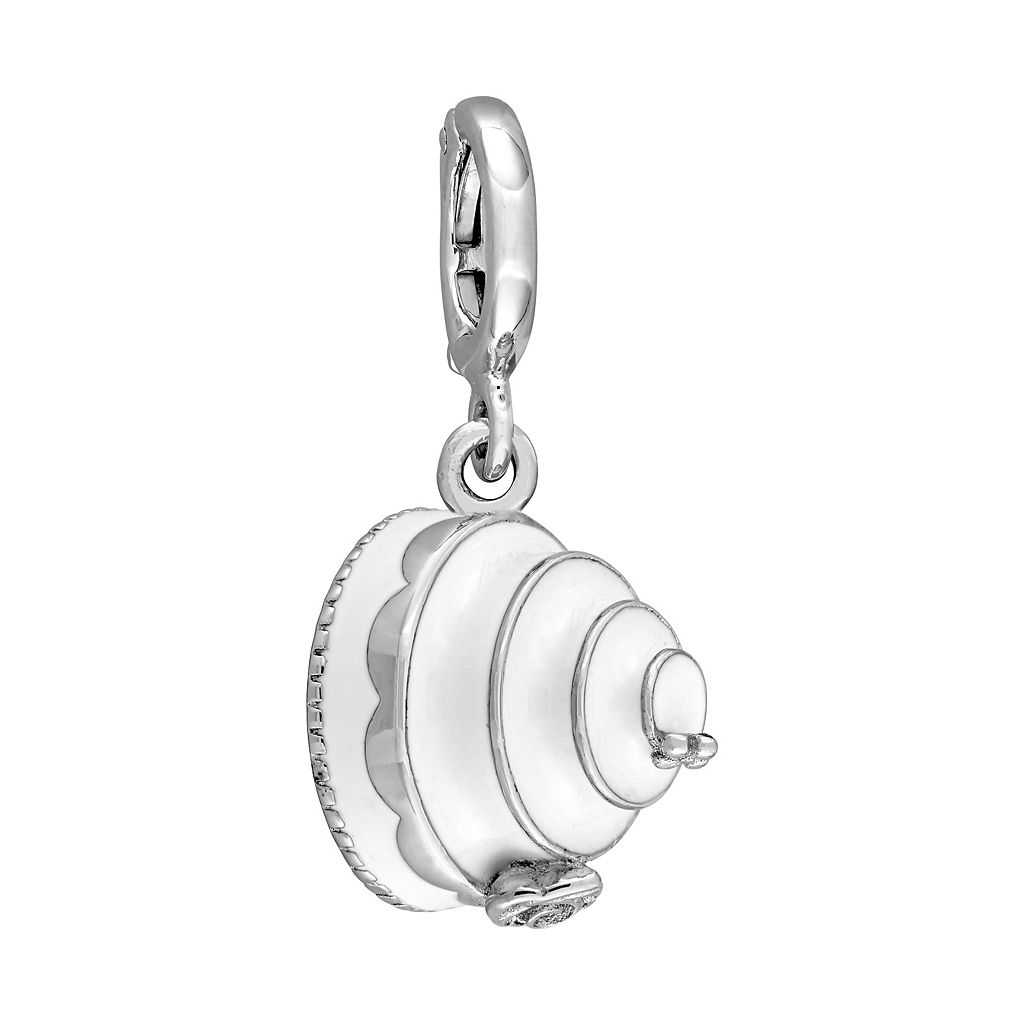 Laura Ashley Jubilee Collection Sterling Silver Tiered White Cake Charm