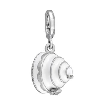 Stella Grace Laura Ashley Jubilee Collection Sterling Silver Tiered White Cake Charm