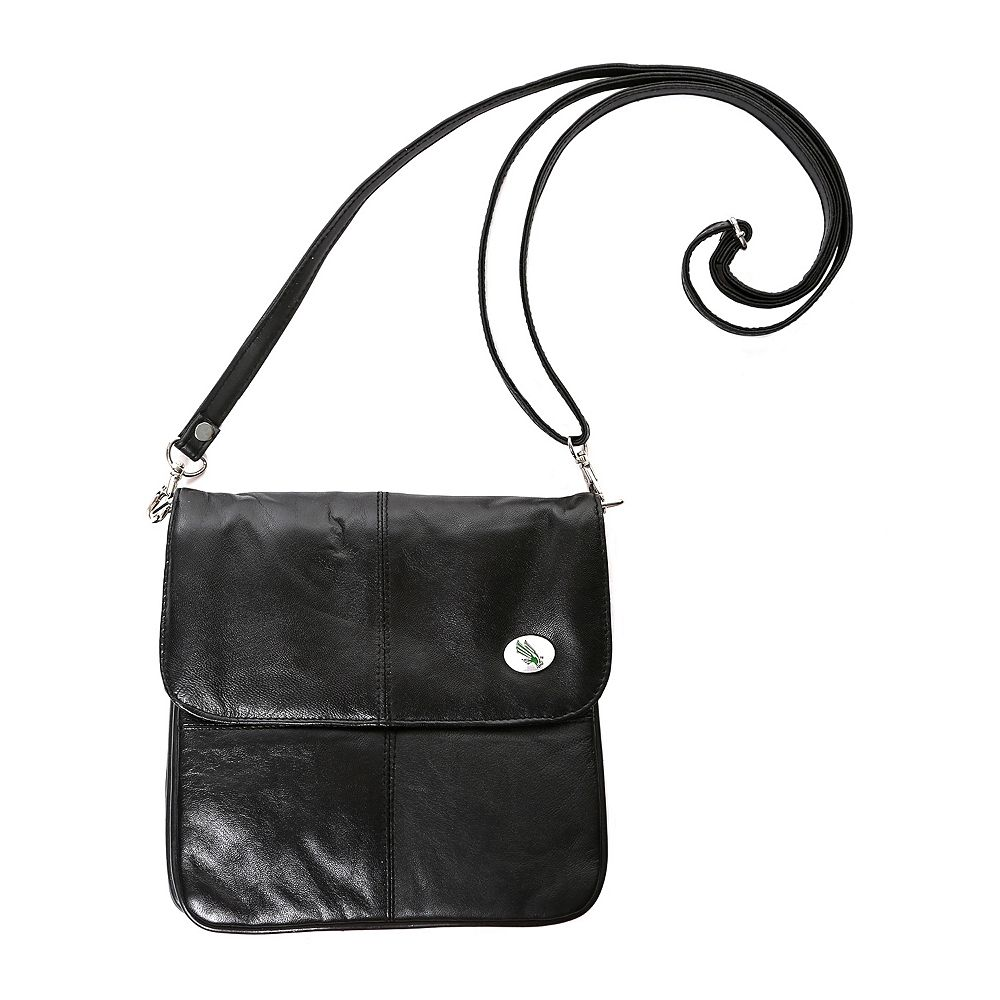 North Texas Mean Green Leather Clutch Purse