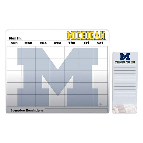 Michigan Wolverines Dry Erase Calendar & To-Do List Pad Set