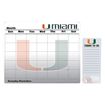 Miami Hurricanes Dry Erase Calendar & To-Do List Pad Set