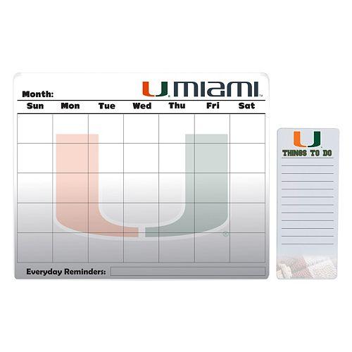 Miami Hurricanes Dry Erase Calendar & To-Do List Pad Set