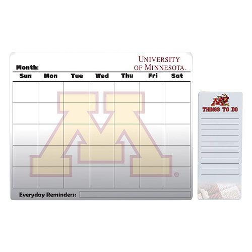 Minnesota Golden Gophers Dry Erase Calendar & To-Do List Pad Set