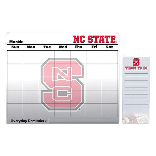 North Carolina State Wolfpack Dry Erase Calendar & To-Do List Pad Set