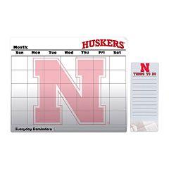 Nebraska Cornhuskers Dry Erase Calendar & To-Do List Pad Set