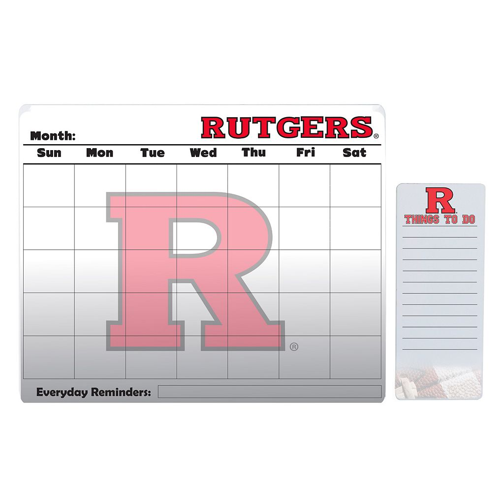 Rutgers Scarlet Knights Dry Erase Calendar & To-Do List Pad Set