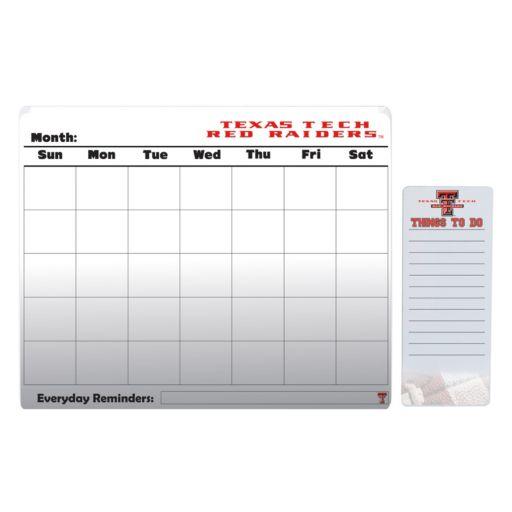 Texas Tech Red Raiders Dry Erase Calendar & To-Do List Pad Set