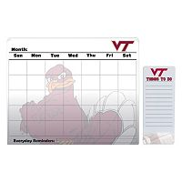 Virginia Tech Hokies Dry Erase Calendar & To-Do List Pad Set