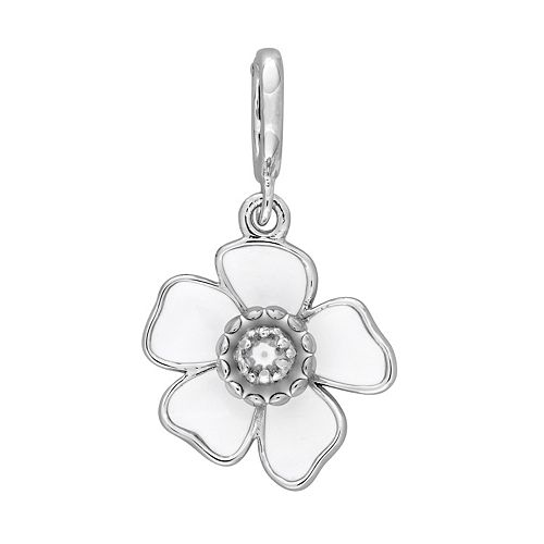 Laura Ashley Botanical Collection Sterling Silver White Flower Charm
