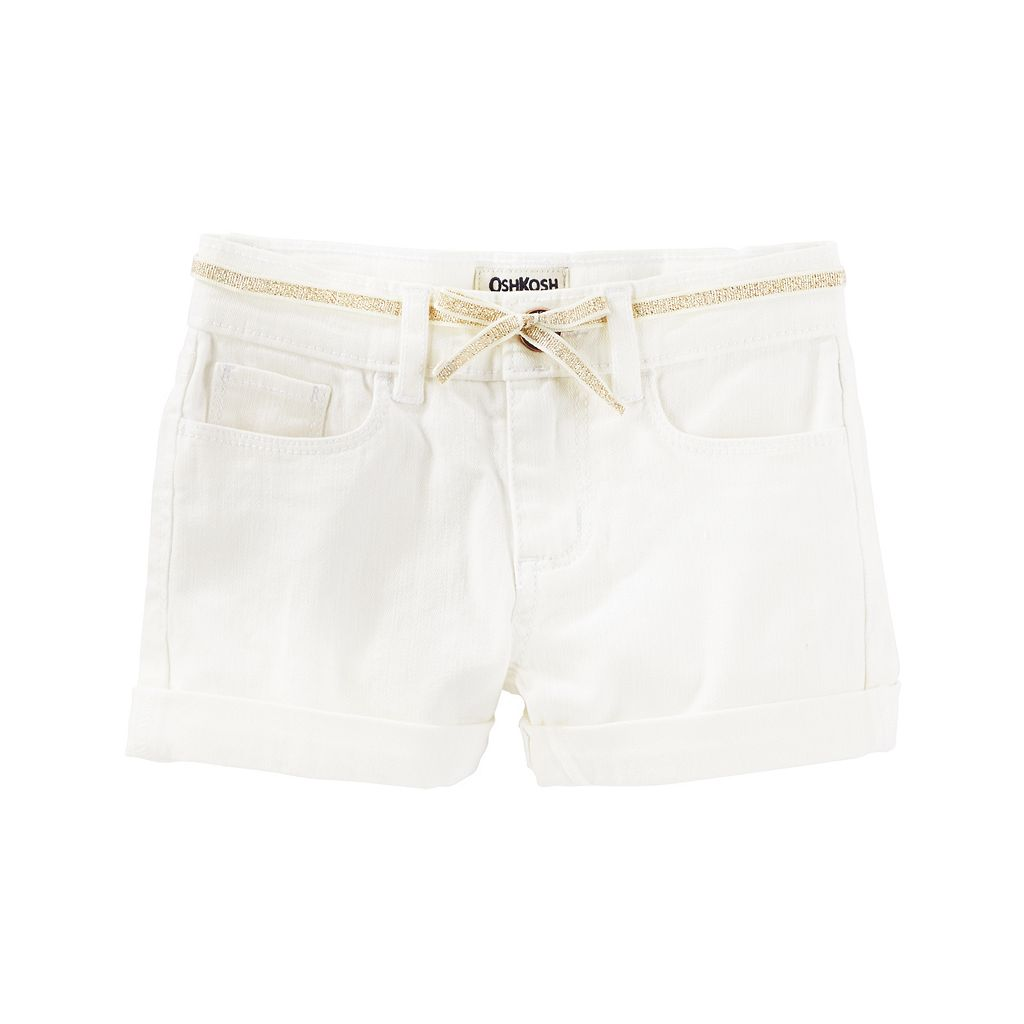 Girls 4-8 OshKosh B'gosh® White Solid Shorts