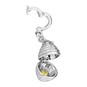 Stella Grace Laura Ashley Garden Collection Sterling Silver Lab-Created Yellow Sapphire Beehive Charm