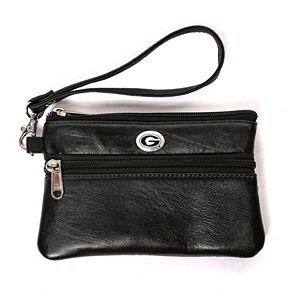 Georgia Bulldogs Leather Wristlet