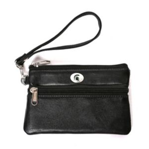 Michigan State Spartans Leather Wristlet