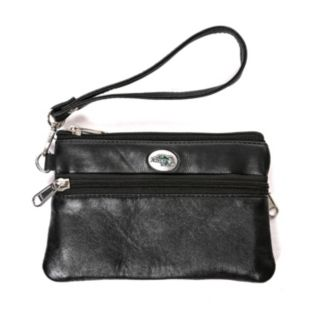 North Dakota State Bison Leather Wristlet
