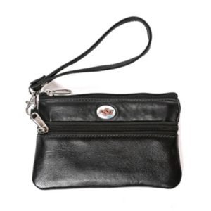 Oklahoma State Cowboys Leather Wristlet