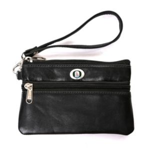 Oregon Ducks Leather Wristlet