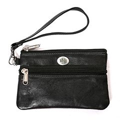 North Dakota Fighting Hawks Leather Wristlet