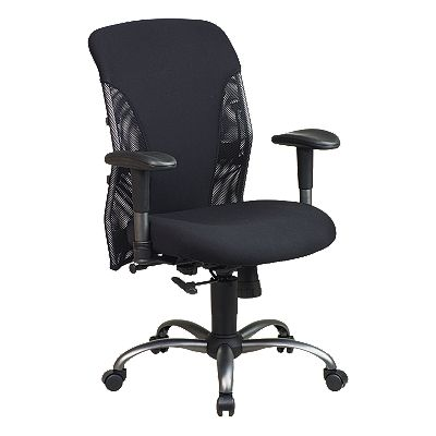 Office Star Products Mesh Back Chair with Titanium Finish