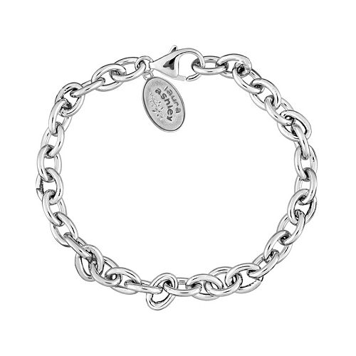 Laura Ashley Lifestyles Sterling Silver Oval Link Chain Bracelet