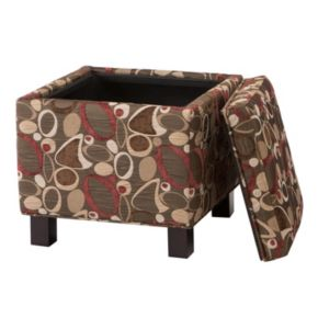 Madison Park Shelley Geometric Square Storage Ottoman & Throw Pillow 3-piece Set