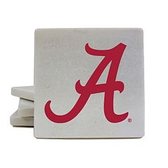 Alabama Crimson Tide 4-Piece Marble Coaster Set
