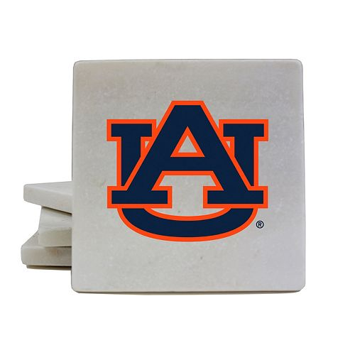 Auburn Tigers 4-Piece Marble Coaster Set