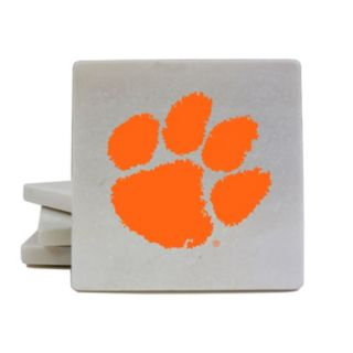 Clemson Tigers 4-Piece Marble Coaster Set