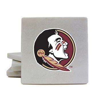 Florida State Seminoles 4-Piece Marble Coaster Set