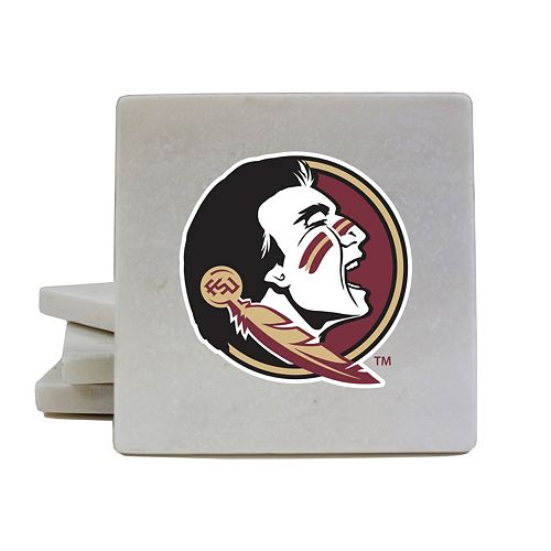 Florida State Seminoles 4-Piece Marble Coaster Set
