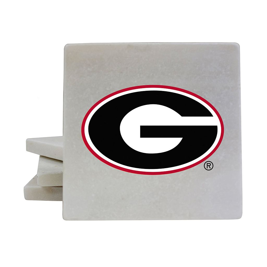 Georgia Bulldogs 4-Piece Marble Coaster Set