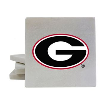 Georgia Bulldogs 4-Piece Marble Coaster Set