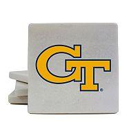 Georgia Tech Yellow Jackets 4 pc Marble Coaster Set