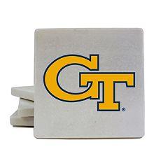 Georgia Tech Yellow Jackets 4-Piece Marble Coaster Set